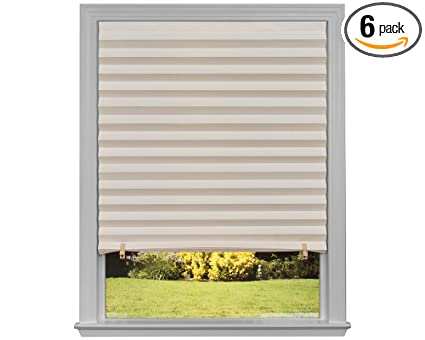 36 x 72 window vinyl original light filtering pleated paper shade natural 36 72 6 amazoncom 36