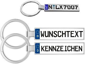 Schlüsselanhänger In Premiumqualität Individuell Personalisiert Kfz Autokennzeichen Nummernschild Autoschild Wunschkennzeichen Wunschtext Auto Für Audi Bmw Mercedes Vw Opel Skoda Mazda Ford Porsche Auto
