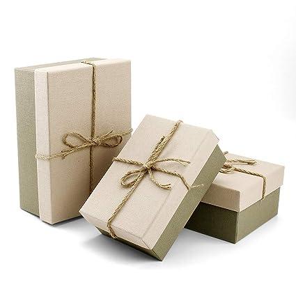 VEESUN Cajas de regalo grandes para regalos, 3 juegos de ...