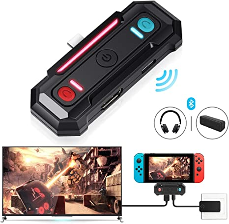 Adaptador Bluetooth de baja latencia para Nintendo Switch,Transmisor de doble función 2 en 1 que Admite Video y Audio ,interfaz HDMI/Type-C,Compatible con Bluetooth 5.0 Auriculares y Altavoces: Amazon.es: Videojuegos