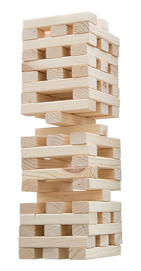 Amazoncom Hey Play Nontraditional Giant Wooden Blocks Tower