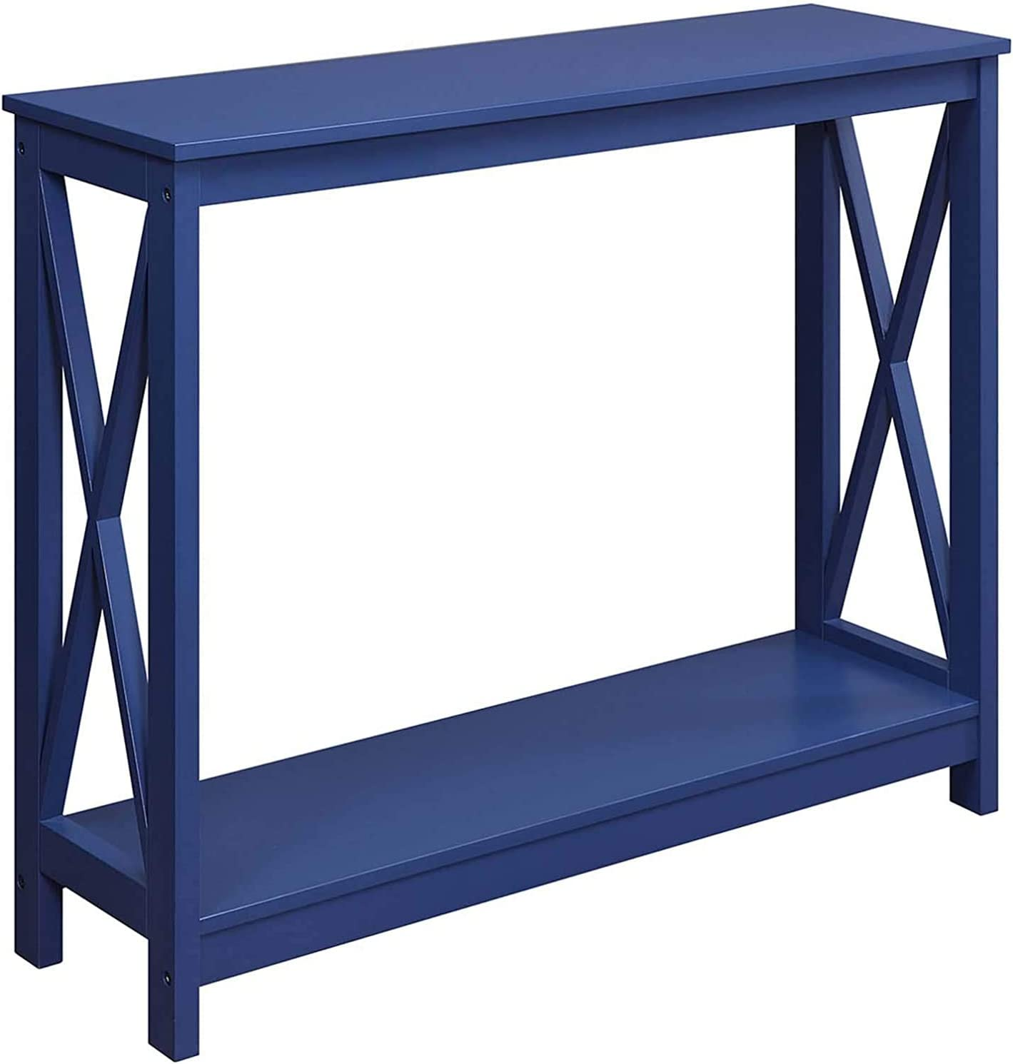 Convenience Concepts Oxford Console Table, Cobalt Blue