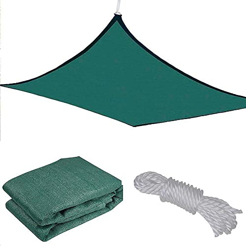 Yescom 18×18' Square Sun Shade Sail Patio Deck Beach Garden Outdoor Canopy Cover Uv Blocking Green