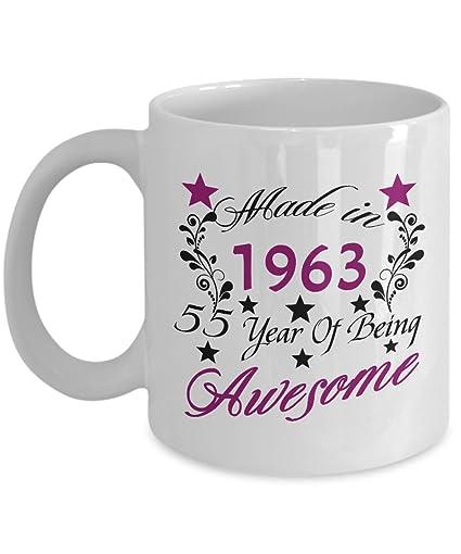 Happy 55th Birthday Mugs For Mom 1963 11 Oz