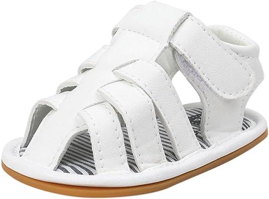 Zapatos Bebe Niño Verano Xinantime Lona Sandalias de Velcro Suela Blanda Zapatos del Antideslizante Zapatos Casuales Sneaker para Recién Nacido Niña Niño: Amazon.es: Zapatos y complementos