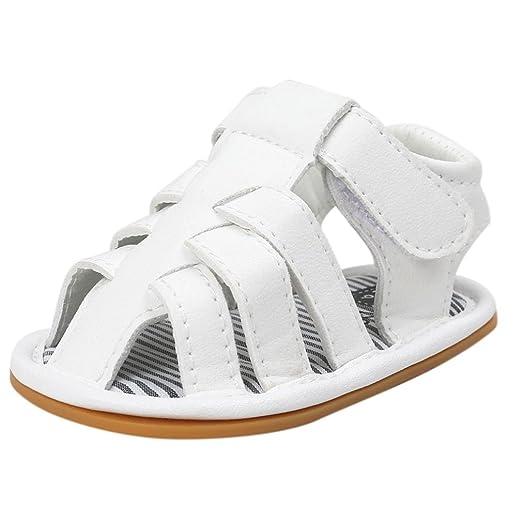Zapatos Bebe Niño Verano Xinantime Lona Sandalias de Velcro Suela Blanda Zapatos del Antideslizante Zapatos Casuales Sneaker para Recién Nacido Niña ...