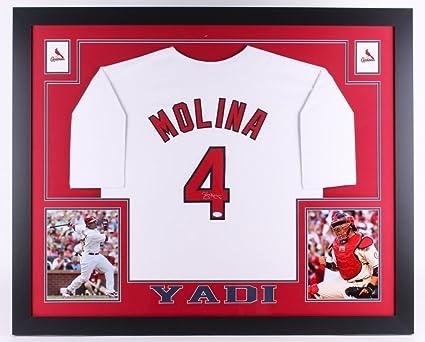 brand new d2a44 cc5b3 Yadier Molina Signed Cardinals 35