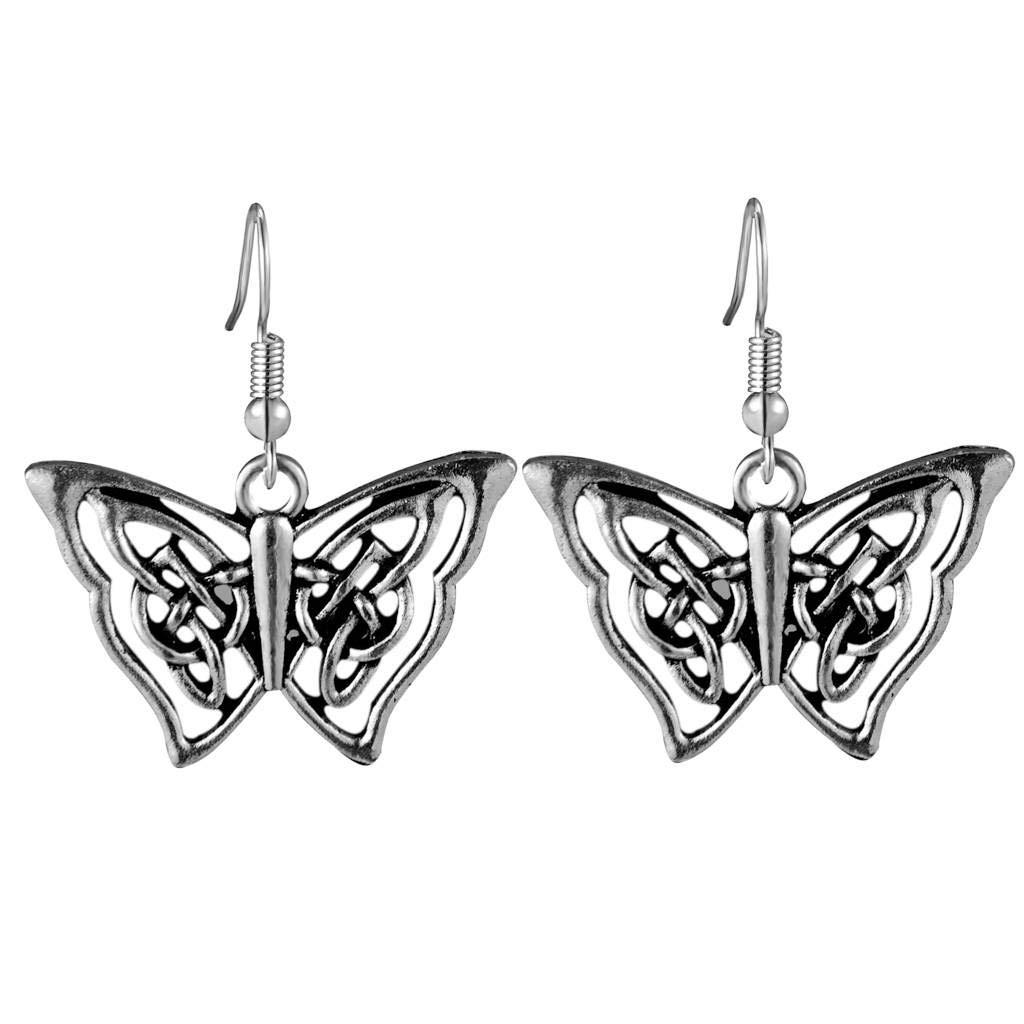 Celtic Butterfly Dangle Earrings for Women and Girls