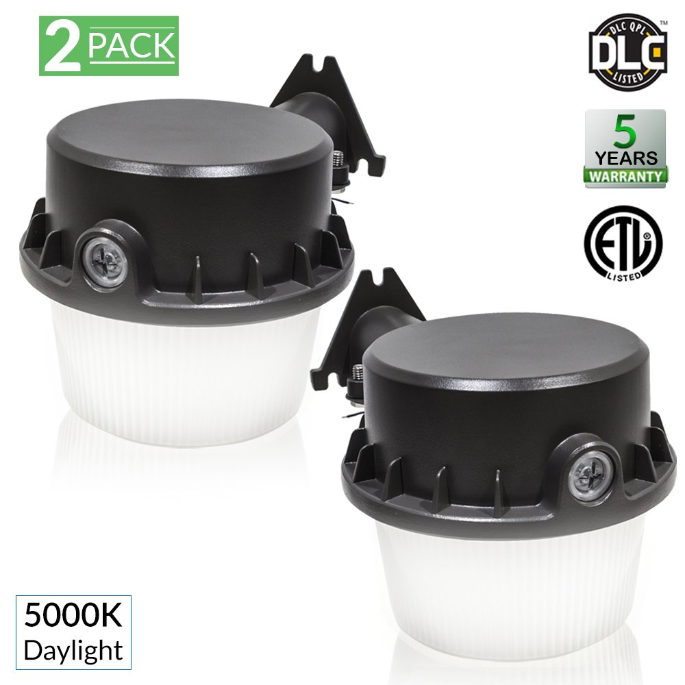 Sunco Lighting 2 Pack Barn Light Dusk To Dawn LED Fixture 35 Watt (260W Equivalent), 5000K Daylight, 4025 Lumens, Yard Floodlight, Outdoor Area Security Lights, Photocell Included - ETL Listed by Sunco Lighting