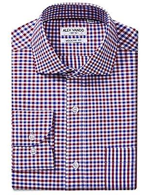 Joey CV Mens Long Sleeve Dress Shirts Cotton Casual Regular Fit Shirt