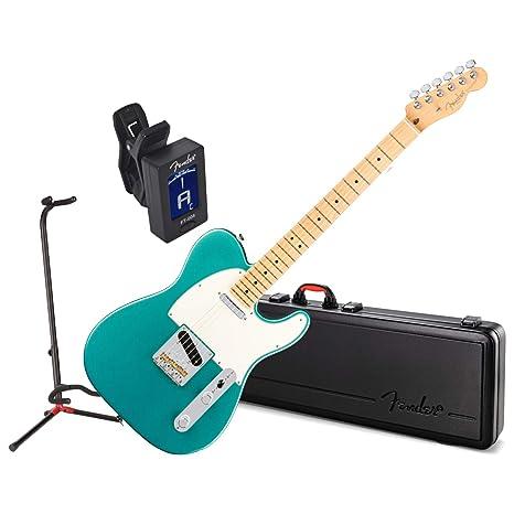 Fender American Pro guitarra eléctrica telecaster MN Myst color verde w/ funda, soporte,