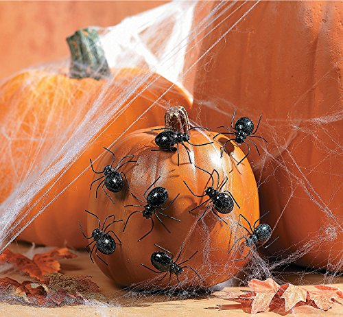 Halloween Spider Pumpkin Push-Ins Pack of 12 ()
