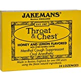 2Pack! Jakemans Throat and Chest Lozenges - Honey and Lemon - Case of 24 - 24 Pack