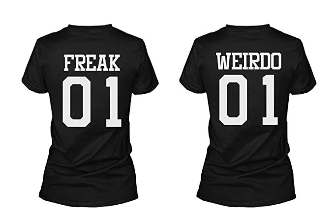 8b631ebc7f 365 Printing Freak 01 Weirdo 01 Matching Best Friends T-Shirts BFF Tees For  Two