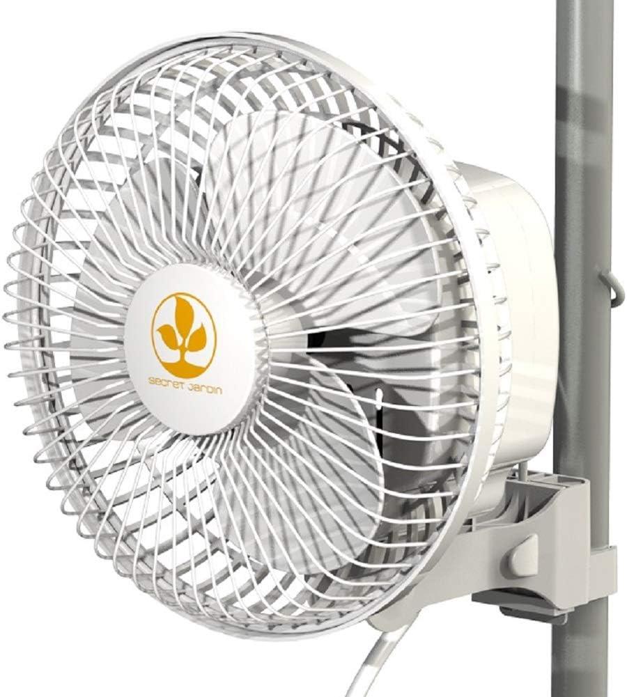 Secret Jardin Monkey Fan 16 Watts 6 Inch Fits 0.63-0.83 Inch Grow Tent Poles Clip Fan