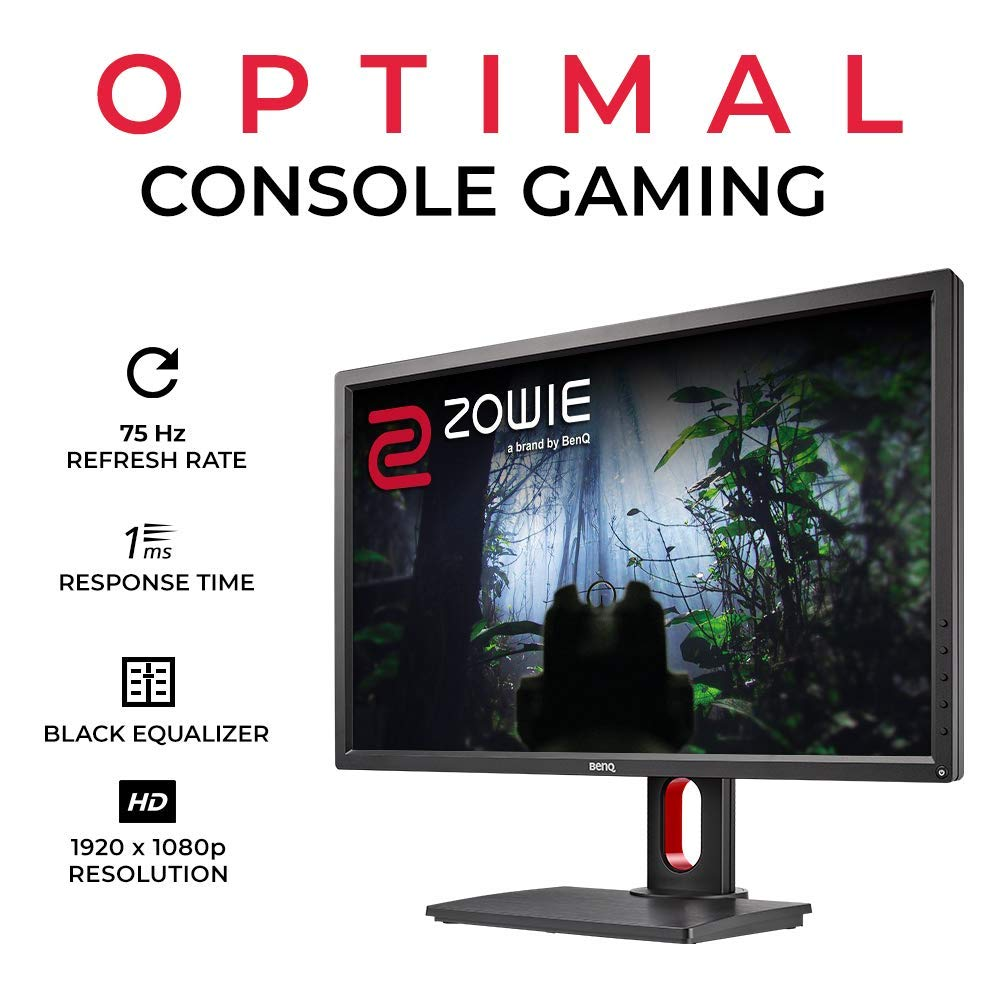 BenQ ZOWIE RL2755T 27 inch 1080p Gaming Monitor 1ms 75Hz Black Equalizer Color Vibrance for Competitive Edge