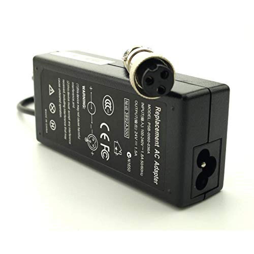 36W Electric Batte Charger for Scooter Razor E100 E200 E300 E125 E150 E175 E500 MX350 E200S E225S E300S E325S MX400 ZR350 PR200;Mini Chopper;Pocket Rocket;Sports Mod;Pocket Mod Cable