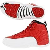 "Nike Mens Air Jordan 12 Retro ""Gym Red"" Gym Red/White-Black Leather"
