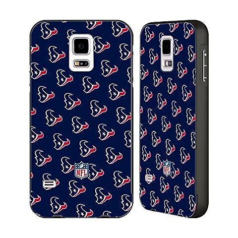 Official NFL Patterns 2017/18 Houston Texans Black Aluminum Bumper Slider Case for Samsung Galaxy S5 / S5 (Houston Texans Samsung S5 Case)