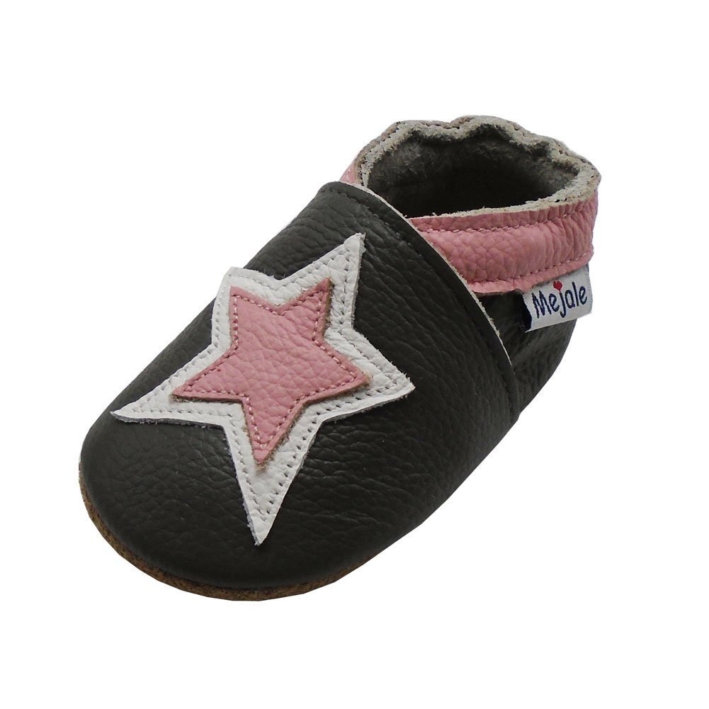 Mejale Baby Shoes Toddler Infant Soft Leather Sole Newborn Boys Girls Crib Moccasins Lovely Star