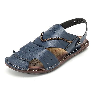 1c278edba gracosy Mens Leather Slip On Sandals