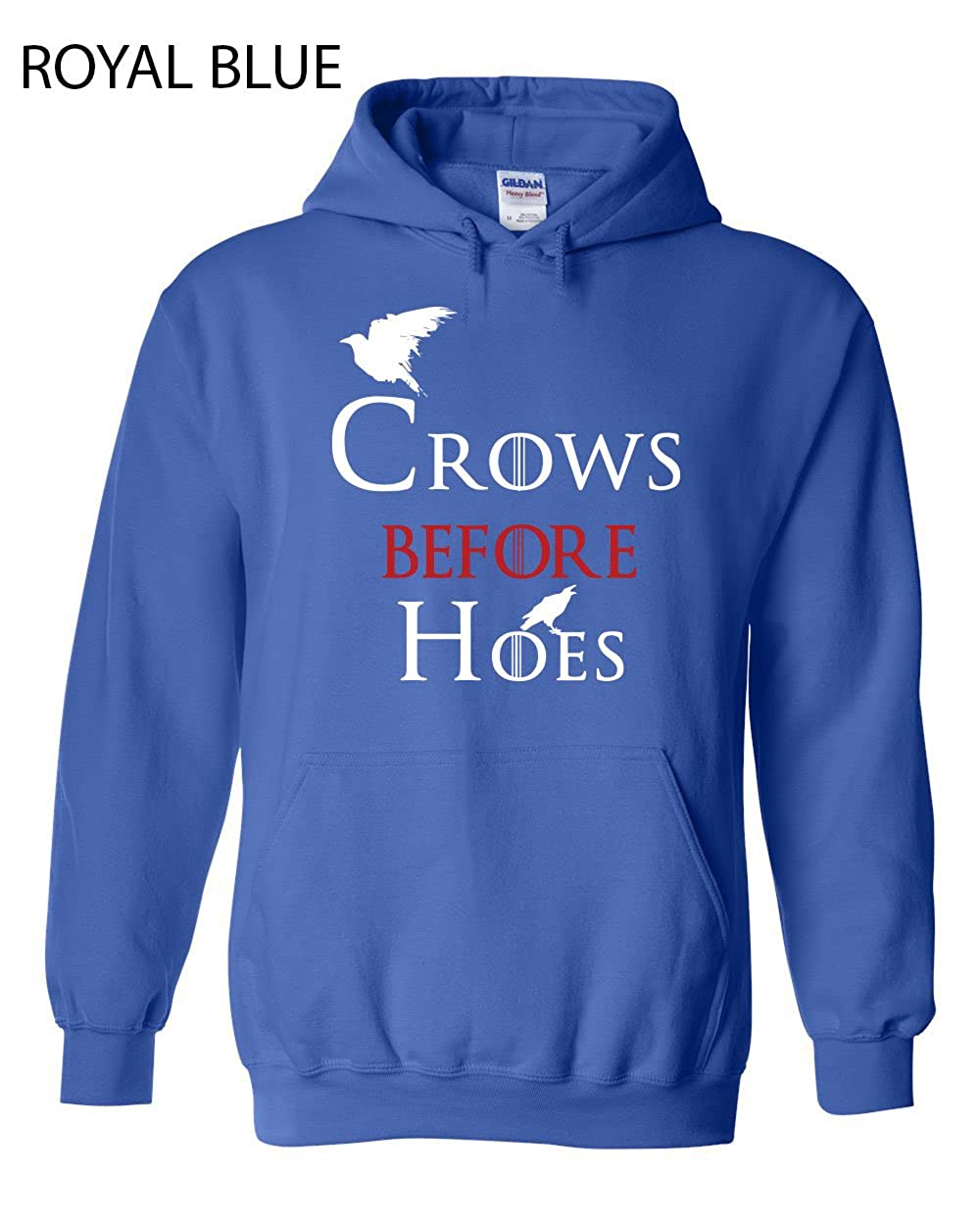 Swaffy Tees 395 Crows Before Hoes Funny Hooded Sweatshirt