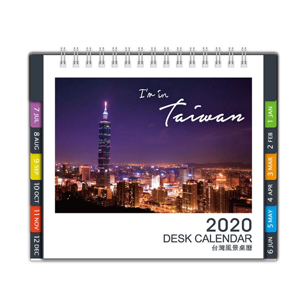SSN 2020 Creative Desktop Calendar Note Calendar Schedule Memo with Month Index Page Calendar Office School Desk Calendar by SSN