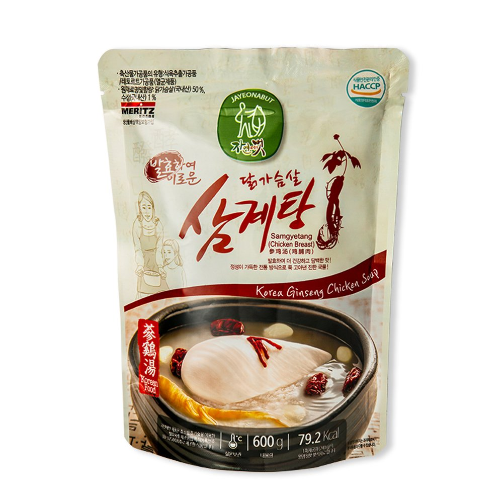 Jayeonabut Fermented Chicken Breast Samgyetang Chicken soup with a feature of health, taste and convenience, 1 box (20 ea) by Jayeonabut