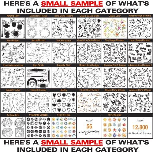 Sign Clipart Design Elements Scrolls Floral Flourishes