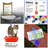 General Wellness Tests and Non-Absorbent Cat Litter PawCheck Combo For Cats - Test For Urinary Tract Infections (UTI), Kidney Failure and Diabetes Tests with Urine Sample Collecting Litter