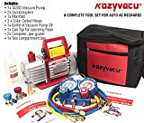 Kyпить Kozyvacu AUTO AC Repair Complete Tool Kit with 1-stage 3.5 CFM Vacuum Pump, Manifold Gauge Set, Hoses and its Acccessories на Amazon.com