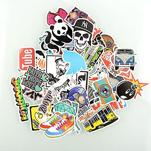 Skateboard Snowboard Car Stickers Random Mix Laptop Luggage Decals 50pcs Pieces