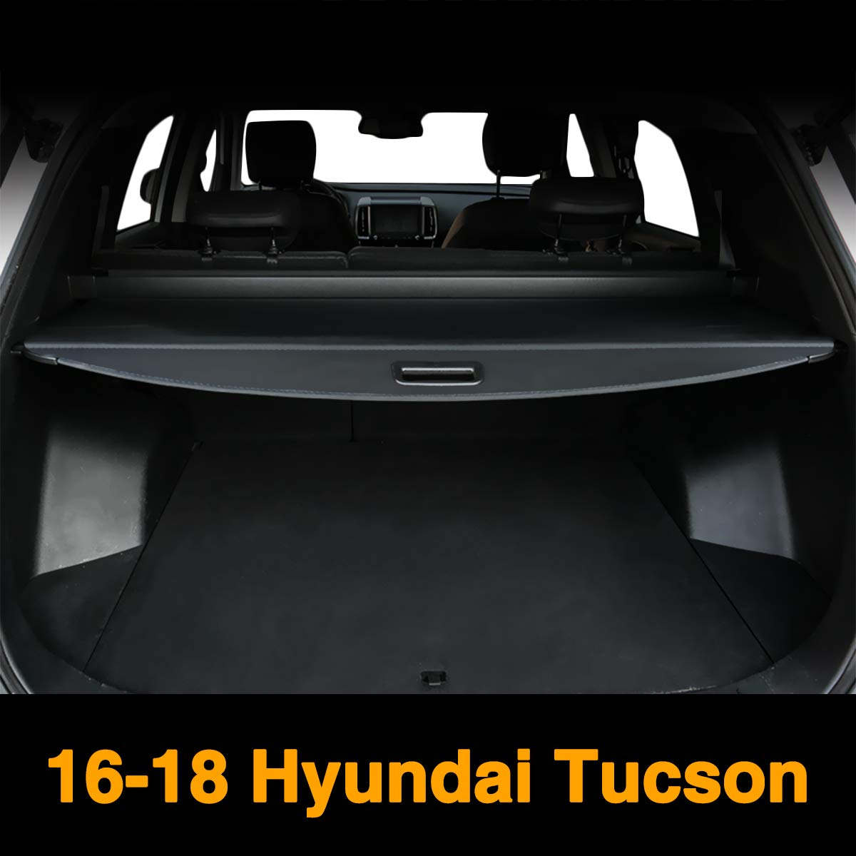 Autoxrun Retractable Black Cargo Cover Luggage Security Rear Trunk Fits 2016-2018 Hyundai Tucson