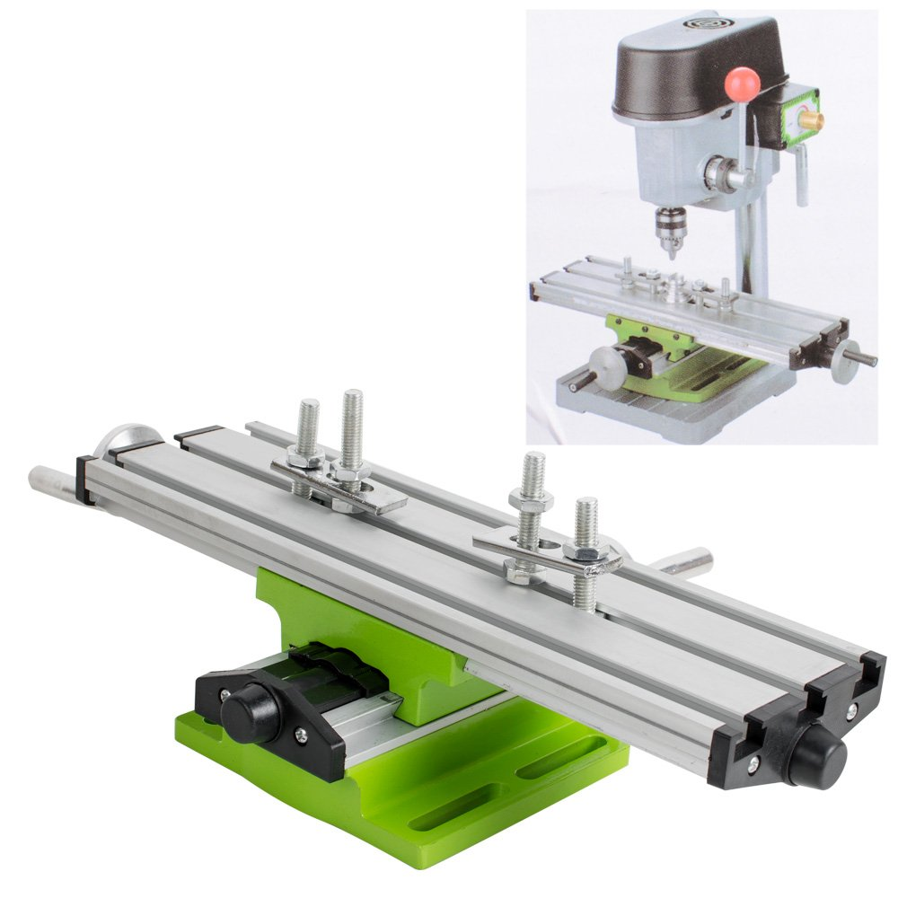 Ovovo Compound Slide Table Multifunction Milling Machine Worktable Milling Working Cross Table Bench Drill
