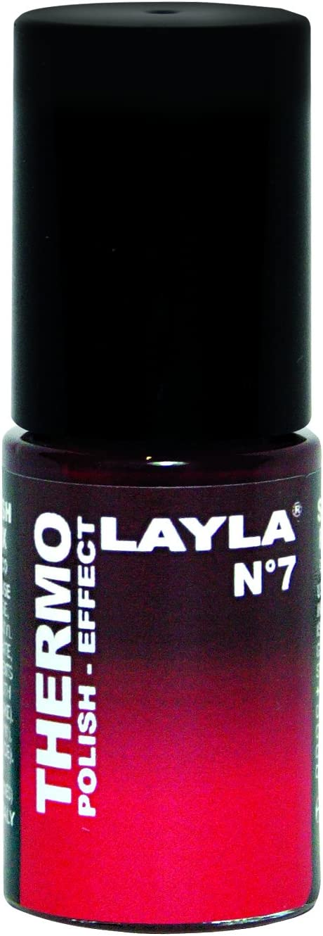 Layla Thermo Polish Effect Color Changing Nail Lacquer #7 Mulled Wine to Red