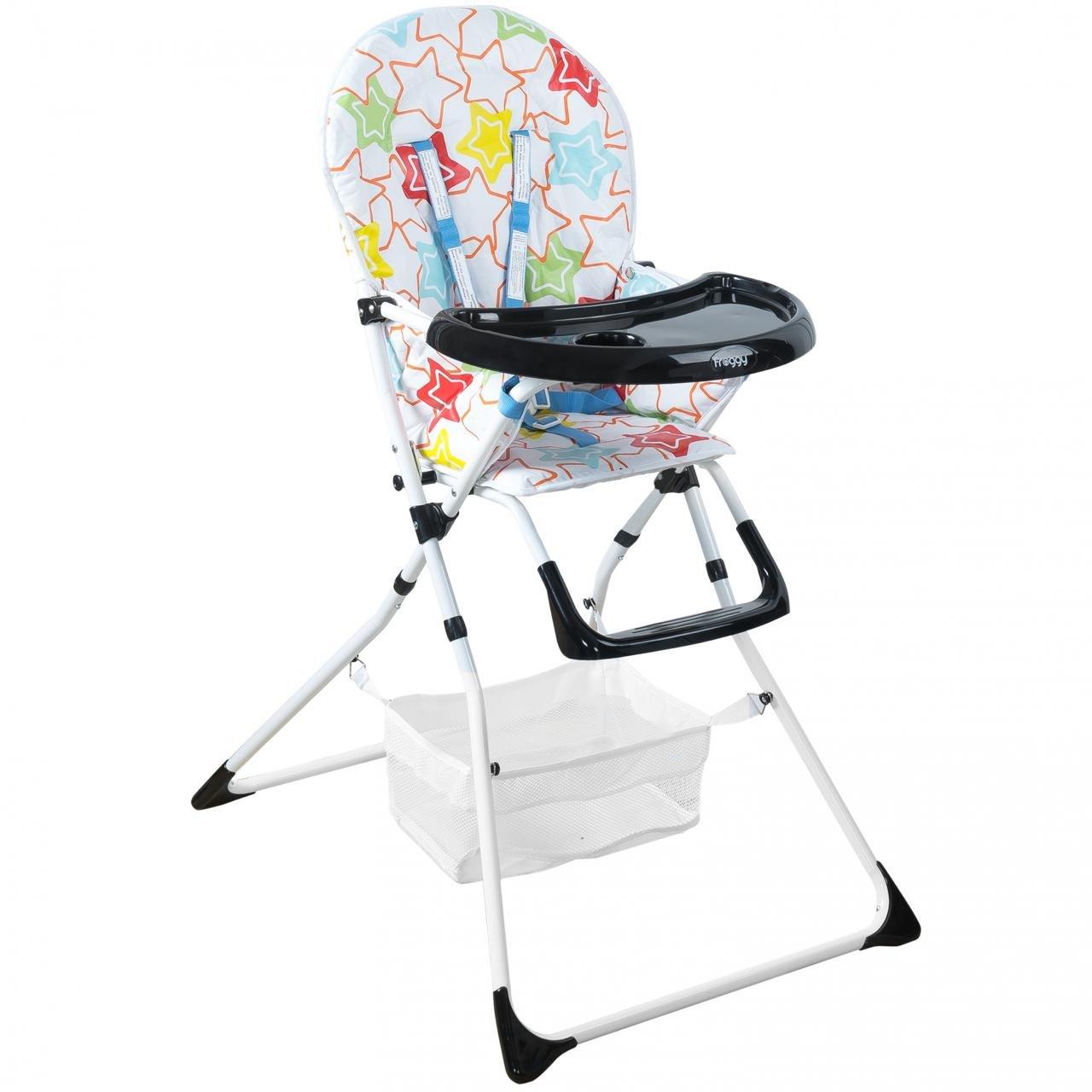 Trona para bebés con cinturón de seguridad y bandeja grande, plegable - Froggy estrellas: Amazon.es: Bebé