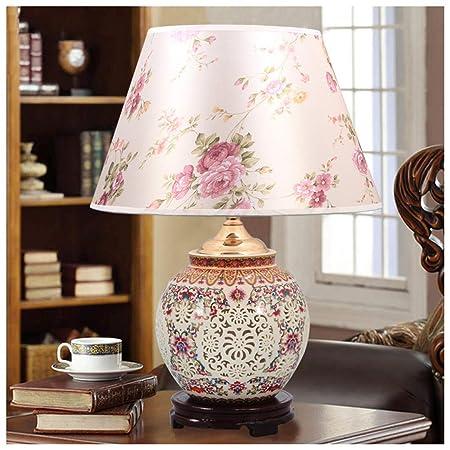 NIUZIMU G-ZM Lámpara de Mesa de Estilo Chino para Dormitorio ...