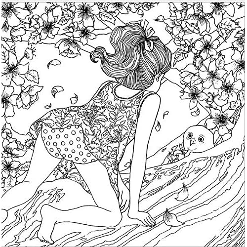 Outlet 4 Design Lot Lomely Adults Coloring Books Mini Secret Garden Lost Ocean