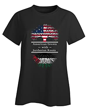 American Grown With Jordanian Roots Jordan Great Gifts - Ladies T-shirt