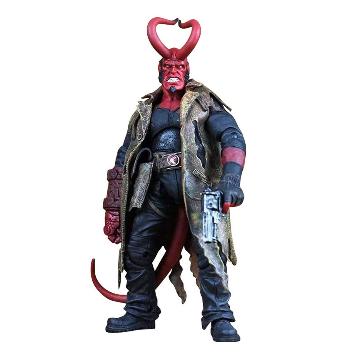 Lucky Lian Men's Hellboy Action Figure Collectible Kid's Hellboy Figure Toys Birthday Gift
