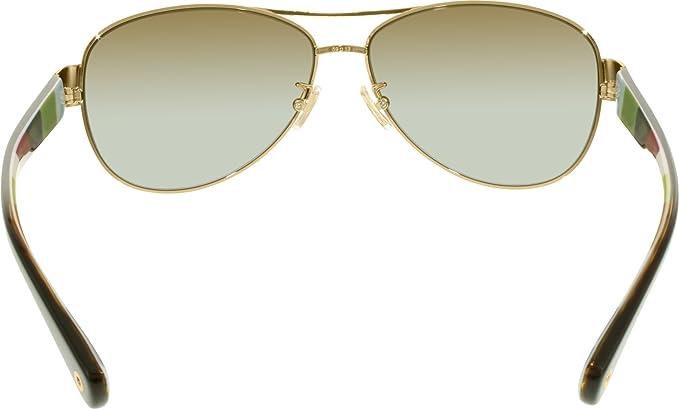 98bdd28a5c32f ... uk amazon coach womens kristina sunglasses hc7003 gold brown metal  polarized 59mm coach clothing 46e74 ac989 ...