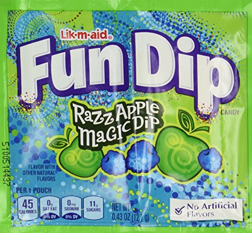 Fun Dip Assorted Flavor Party Pack - 48 Piece Pack, 0.43 oz Packets - Great Party Dips