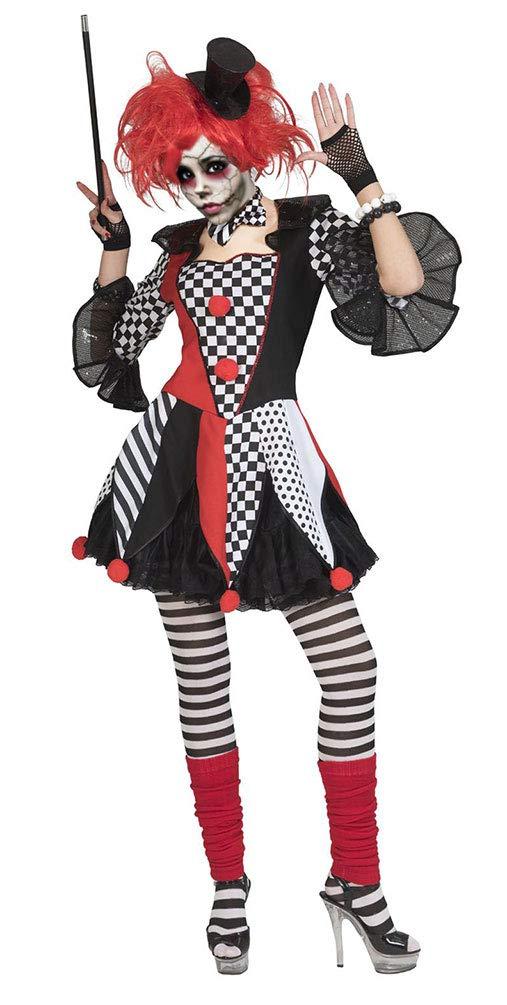 Karneval-Klamotten Horror Clown Kostüm Damen Horror Narr Kostüm schwarz schwarz schwarz weiß rot Halloween Damen-Kostüm Größe 44/46 9d2282