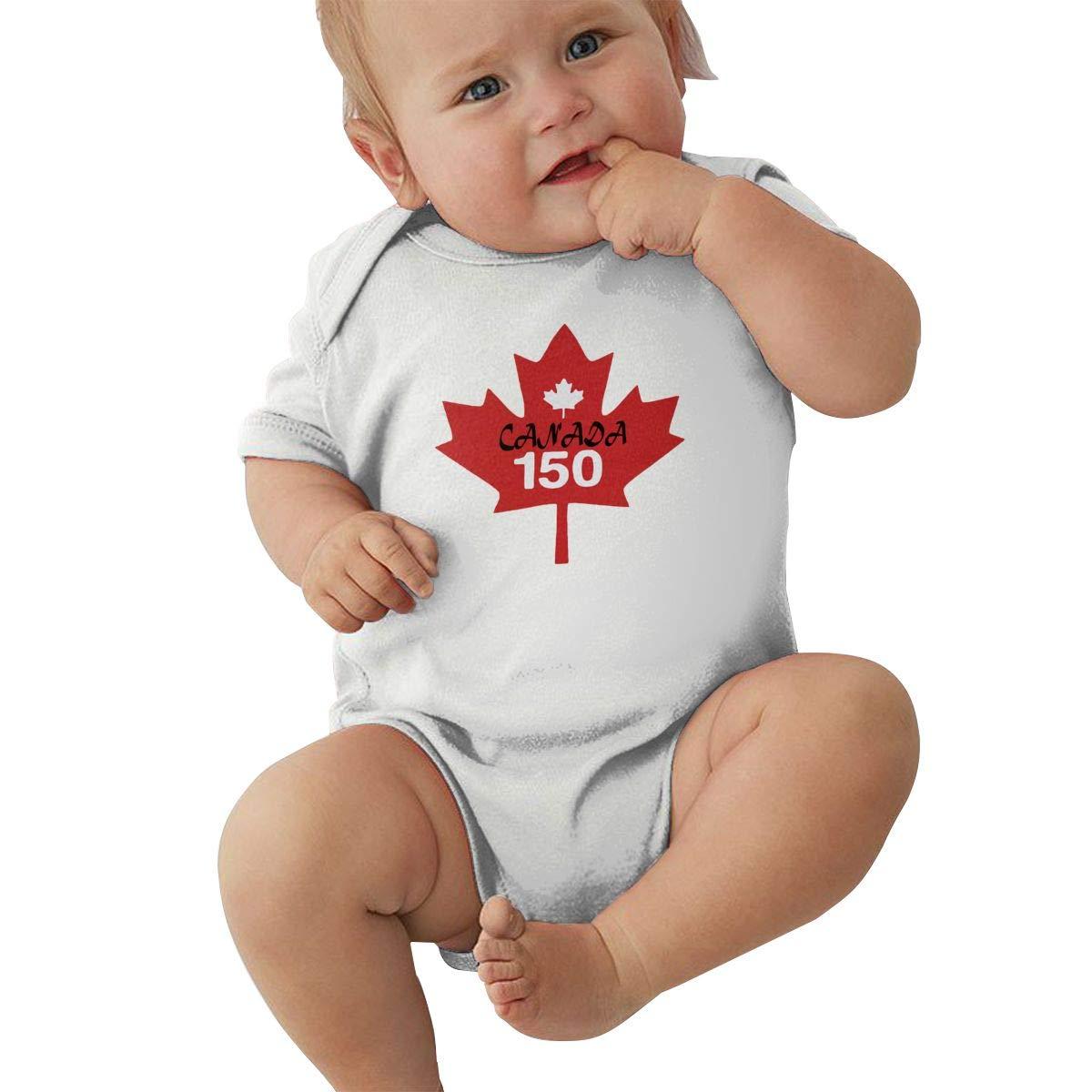 LBJQ9 Canada Popular 150th Birthday Unisex Baby Essential Basic Short Sleeve Bodysuit Jumpsuit Outfits