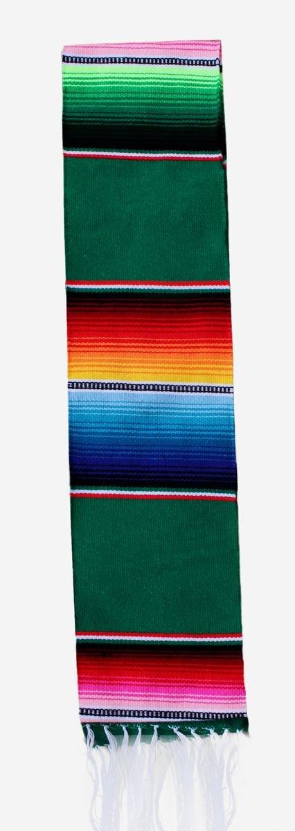 Del Mex Mexican Serape blanket Graduation Stole Sash Latino Hispanic (Green) by Del Mex (Image #2)