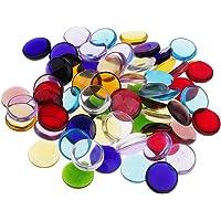 oshhni 100g Assorted Round Vitreous Glass Mosaic
