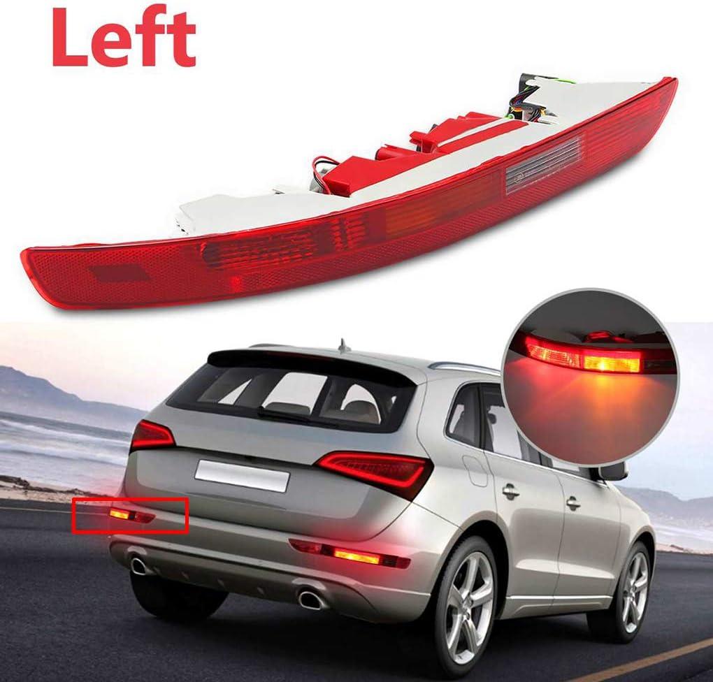 Sunlera Para Audi Q5 2006-2016 Parachoques Luz Trasera Niebla inversa l/ámpara de luz Trasero Izquierdo Lado Derecho 8R0945095 8R0945096 Left