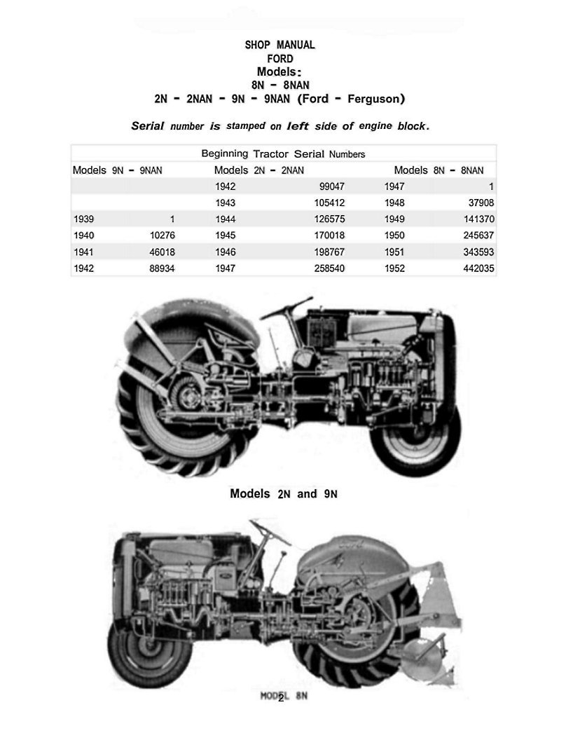 amazoncom remastered ford tractor 2n 8n 9n shop manual it shop