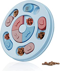 ZINEQI Dog Puzzle Toys Interactive Dog Toys Dog Puzzles for Smart Dogs, Durable Treat Dispenser for Training Funny Feeding, Dog Slow Feeder to Aid Pets Digestion, IQ Games & Mental Enrichment