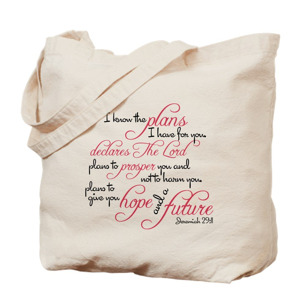 CafePress – Jeremiah 29 : 11デザイン – ナチュラルキャンバストートバッグ、布ショッピングバッグ B01JOVA8VQ